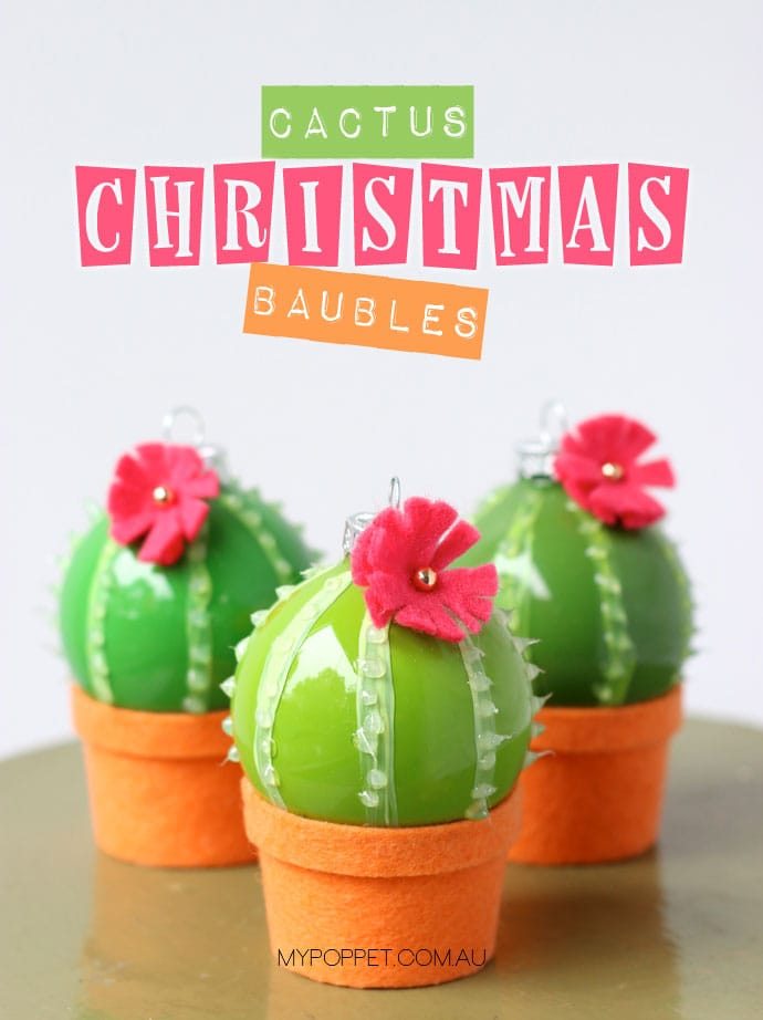 DIY Cactus Christmas Decoration Baubles MCM