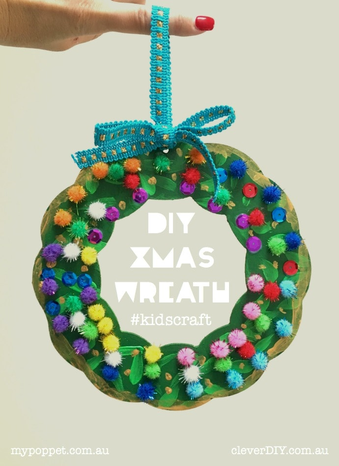 Kids Craft Diy Christmas Wreath My Poppet Makes