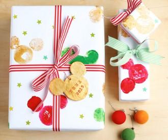 diy potato print disney mickey mouse wrapping paper mypoppetcomau christmas