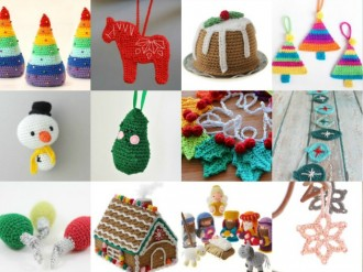 Cute Christmas Ornament Crochet patterns