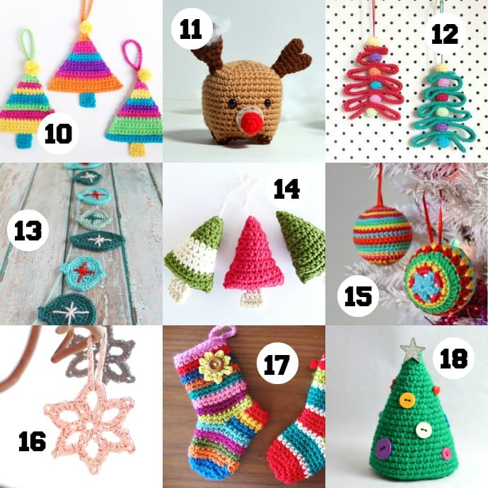 Free Crochet Pattern For Christmas Pickle : 18 Crochet Ornaments to make this Christmas - My Poppet Makes