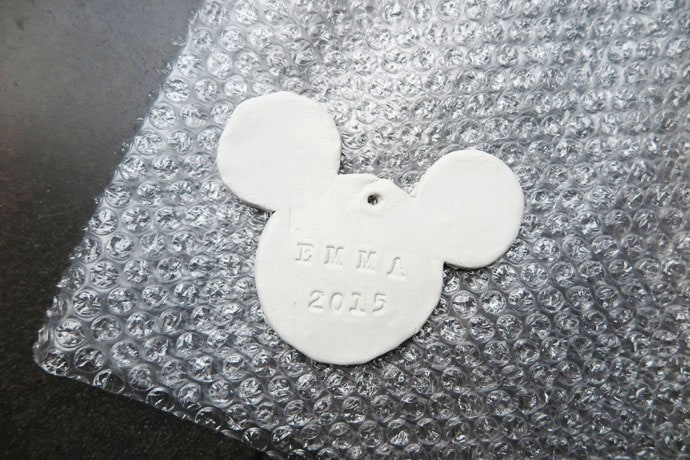 Disney Mickey Mouse DIY Clay Christmas Ornament mypoppet.com.au