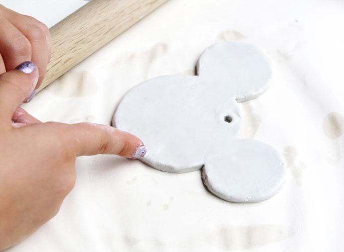 Disney Mickey Mouse DIY Clay Christmas Ornament mypoppet.com.au