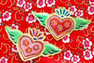 Mexican tin heart folk craft DIY mypoppet.com.au