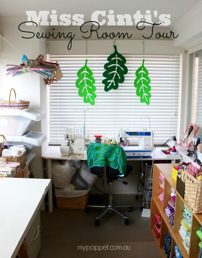 Sewing room tour and Craft Room Organising tips Mypoppet.com.au