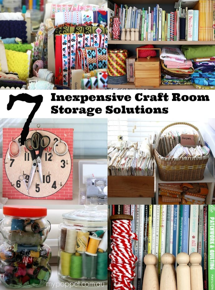 7 inexpensive craft room storage solutions my poppet makes