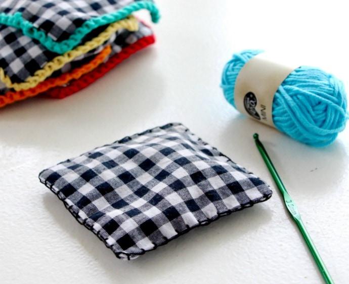crochet edge onto fabric