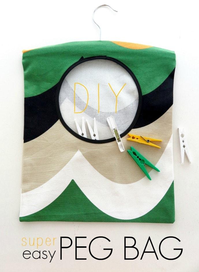 Fancy Peg Bag Nähmuster Gallery - Decke Stricken Muster ...
