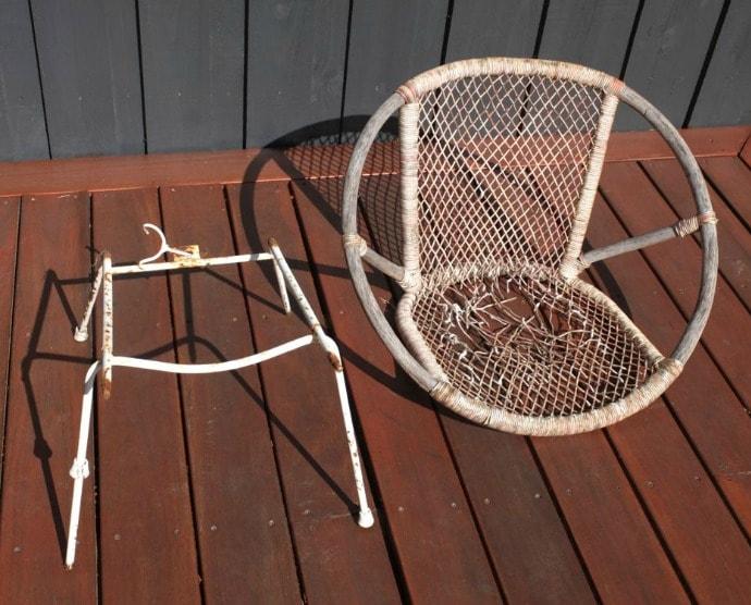 Vintage Saucer Chair Makeover