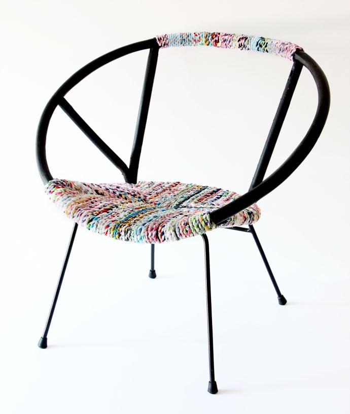 Vintage saucer chair makover