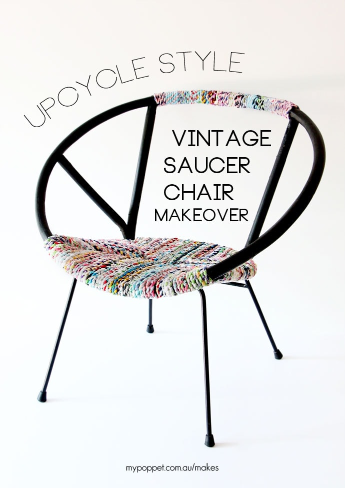 Genial Upcycle Style: Vintage Saucer Chair Makeover
