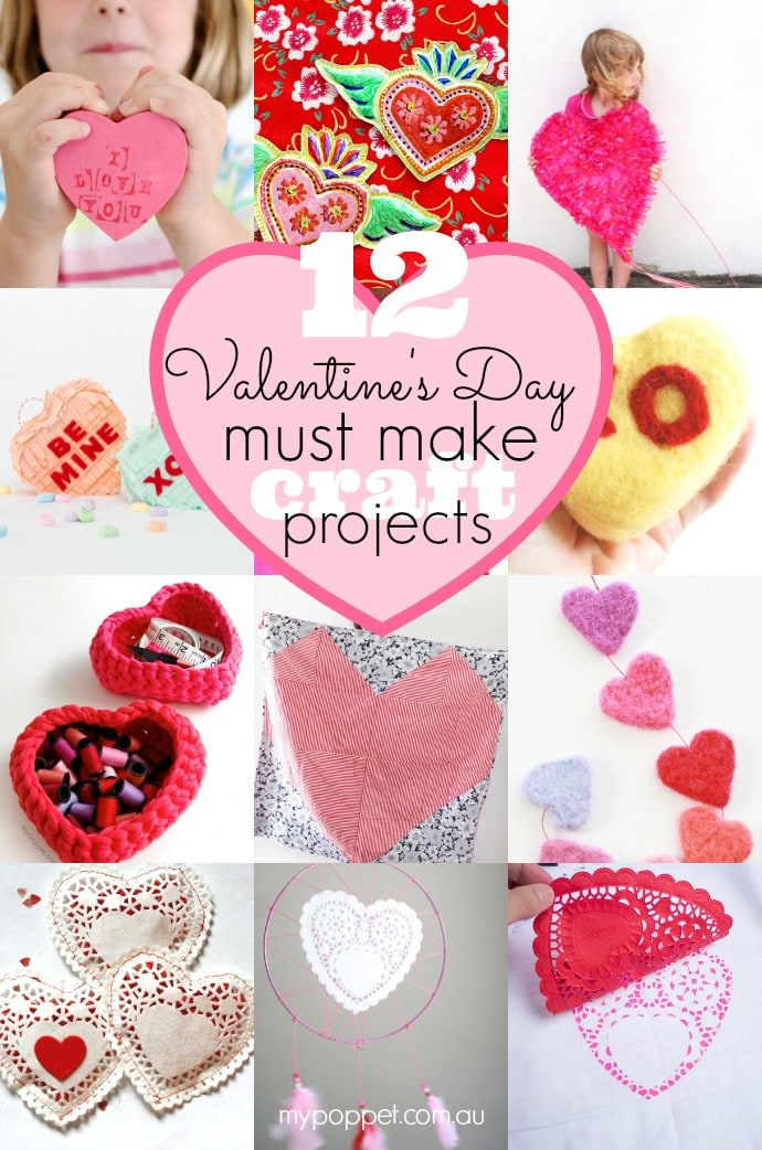 12 Must Make Valentine S Day Craft Projects My Poppet Makes