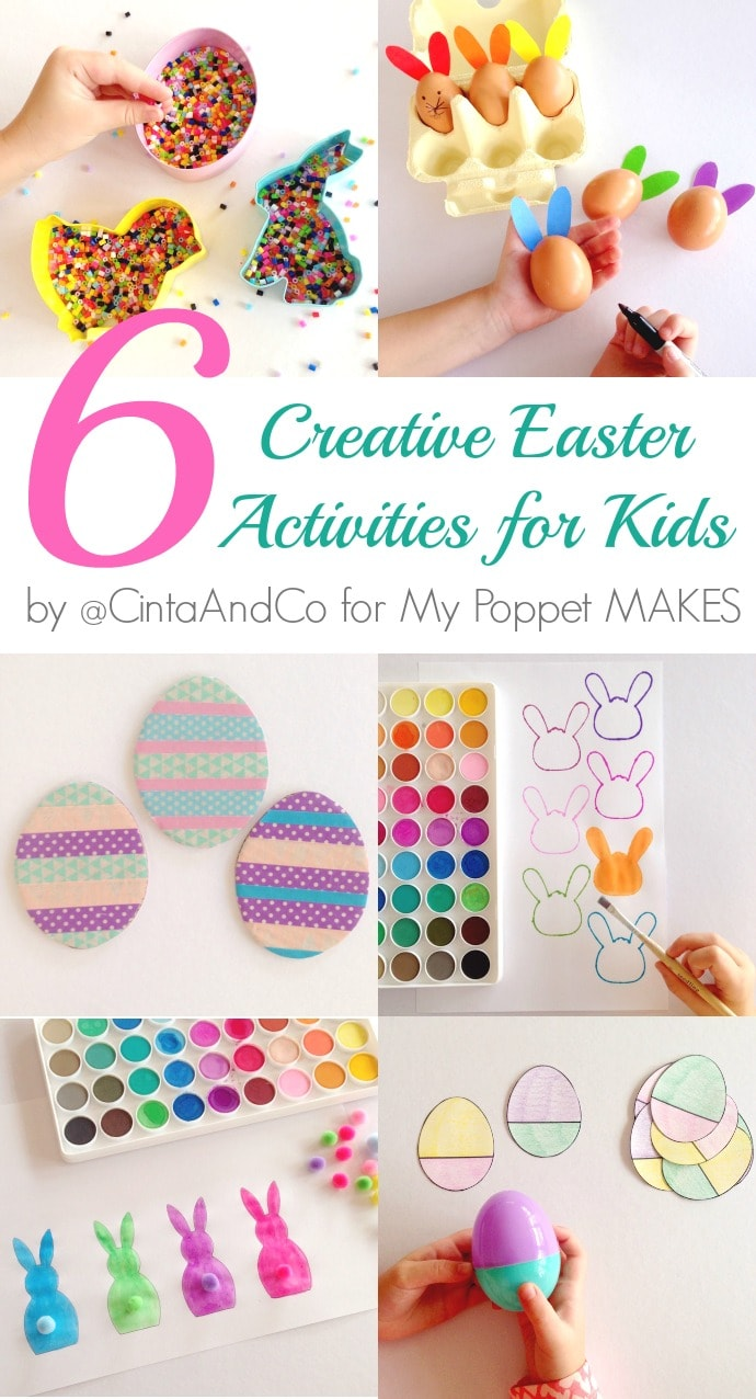 6 Creative and Educational Easter Activites for kids by @cintaandco for mypoppet.com.au/Makes