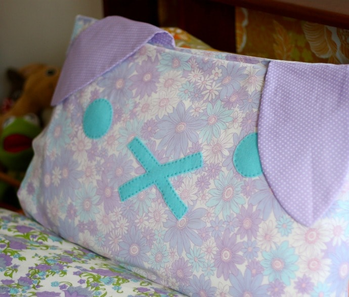 DIY Bunny Rabbit Pillow mypoppet.com.au