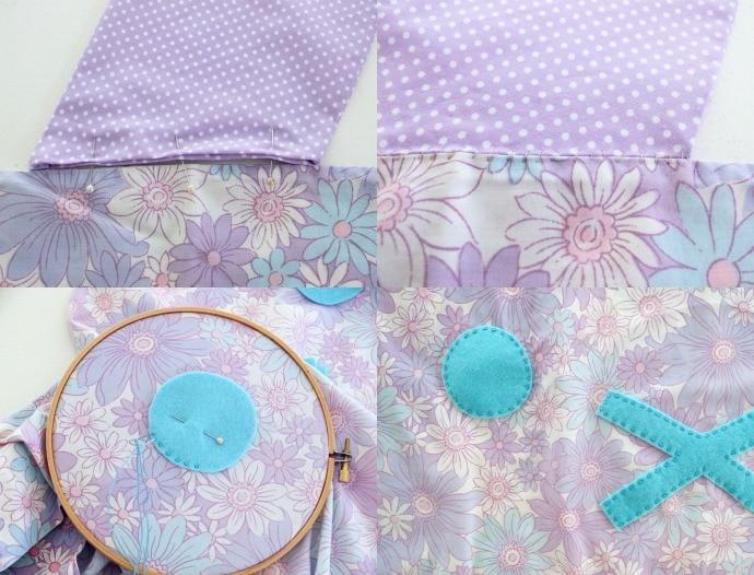 Bunny pillowcase DIY steps