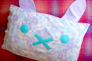How to make a Bunny Pillowcase mypoppet.com.au