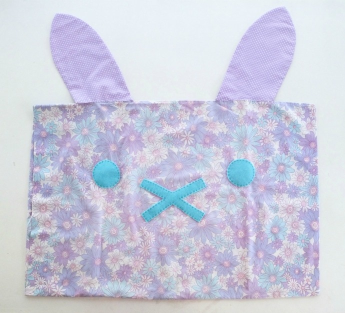 DIY bunny rabbit pillowcase