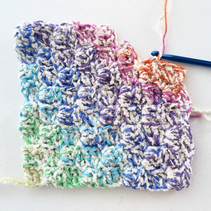 Rainbow Crochet Washcloths My Poppet Makes