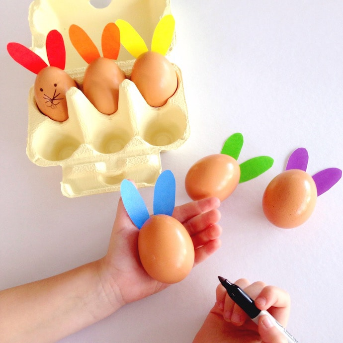 Rainbow Rabbits - Easter craft activity mypoppet.com.au