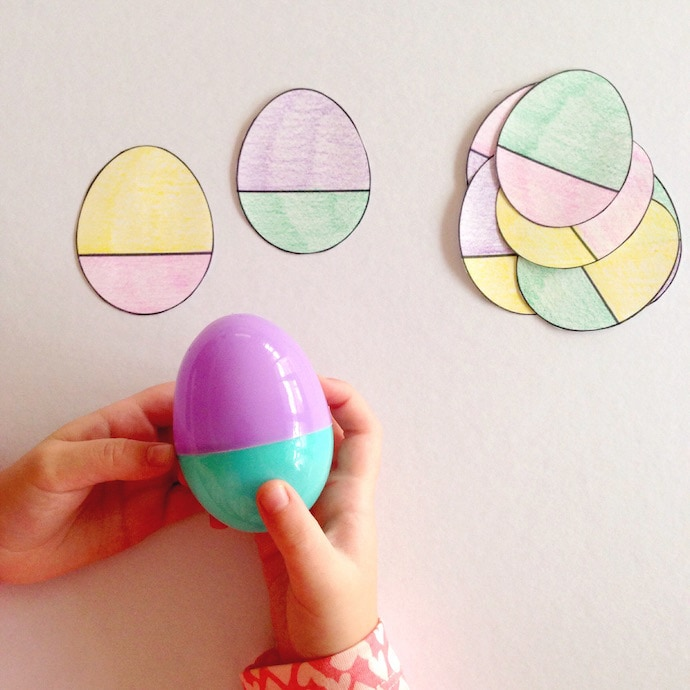 Easter Egg Match - Easter craft activity mypoppet.com.au