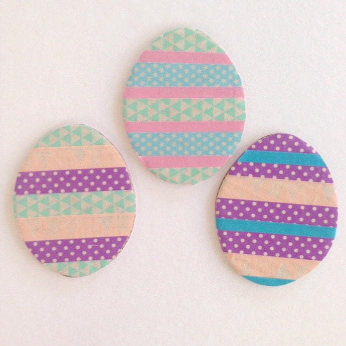 Washi Tape Eggs - Easter craft activity mypoppet.com.au