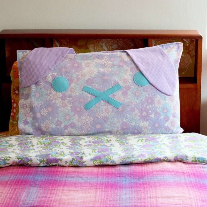 DIY Bunny Rabbit Pillow mypoppet.com.au