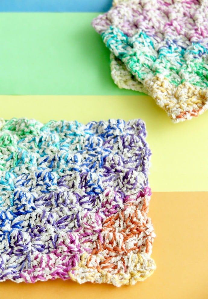 rainbow washcloth crochet pattern