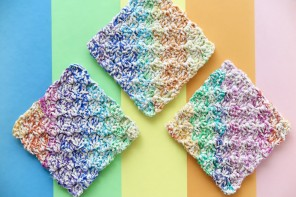 Rainbow Crochet Washcloths