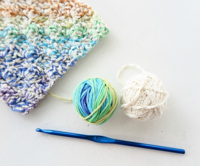 crochet washcloth supplies