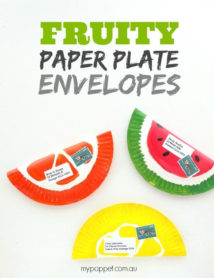 Make Fruity Paper Plate Envelopes