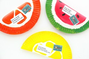 Fruity Paper Plate Envelopes