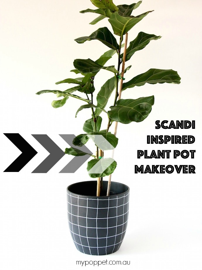 Easy Scandi Style Planter Makeover mypoppet.com.au
