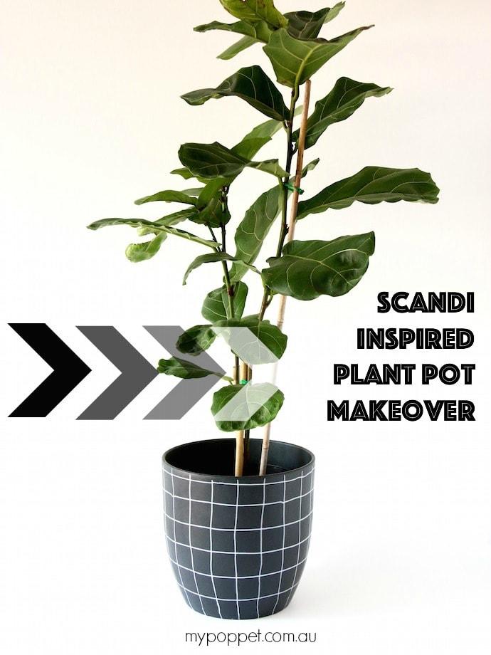 Easy Scandi Style Planter Makeover mypoppet.com.au