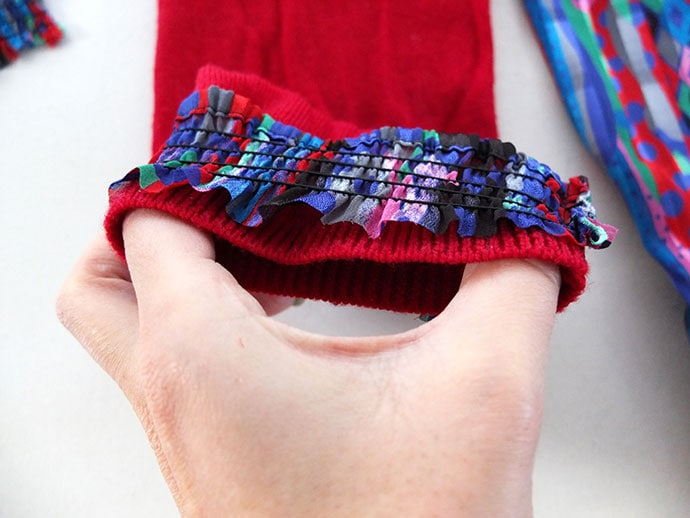 Attach elastic cuff to sleeve