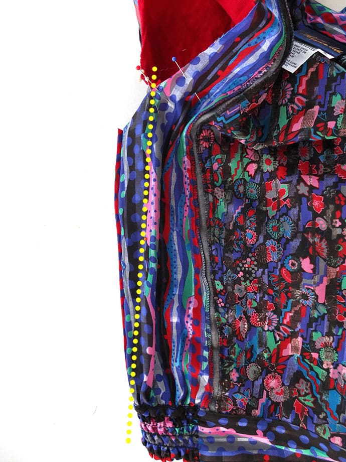 vintage jacket refashion