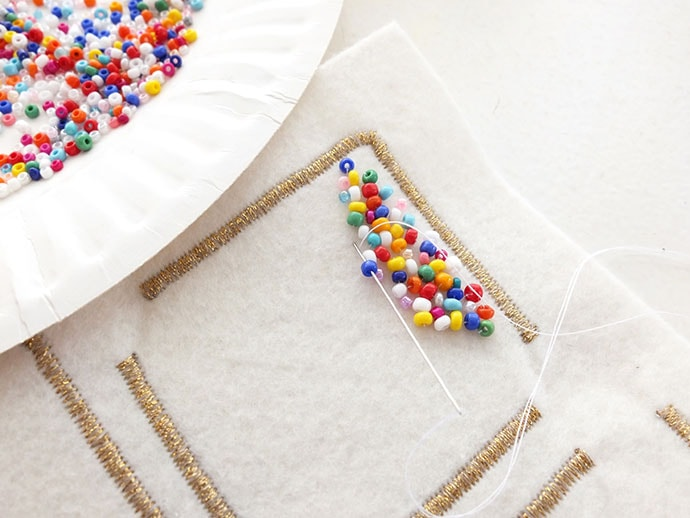 Fairy Bread sew on patch tutorial mypoppet.com.au
