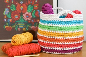 Crochet Pattern: Rainbow Storage Basket