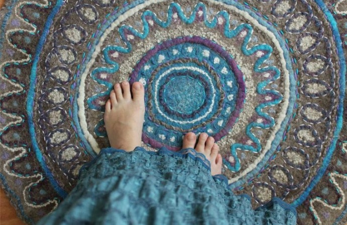 felted mandala rug tutorial