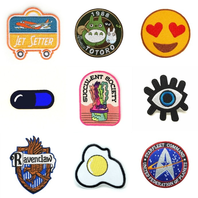 A collection of sew on patches - buyers guide