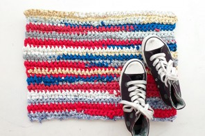 Rag Rug Crochet from old t-shirts