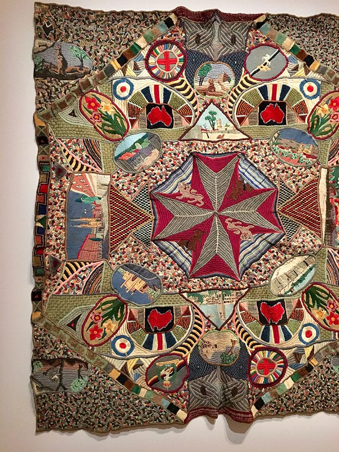 Corporal Clifford Gatenby Australia 1915–92 Embroidered blanket