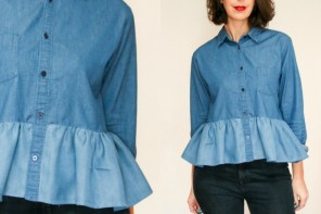 Denim Shirt Refashion