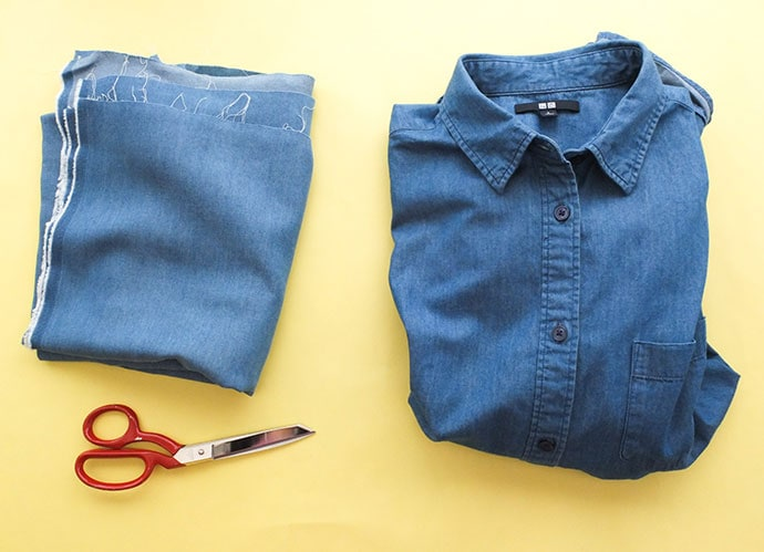 shirt refashion supplies