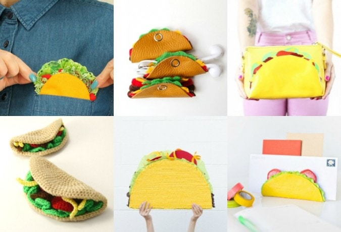 Taco craft ideas for a party or to crochet