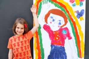 Kids art activity - Life-size self portrait