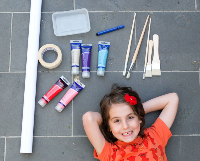 kids art - self portrait supplies