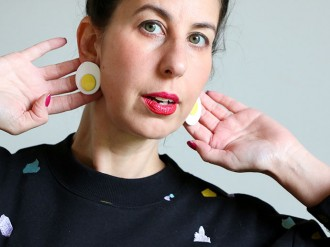 DIY fried egg earrings - mypoppet.com.au