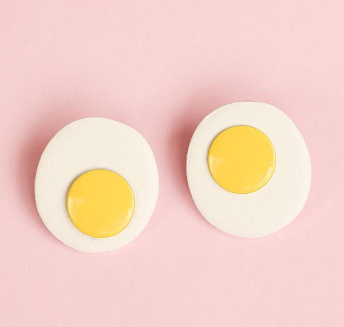 DIY fried egg earrings MyPoppet.com.au