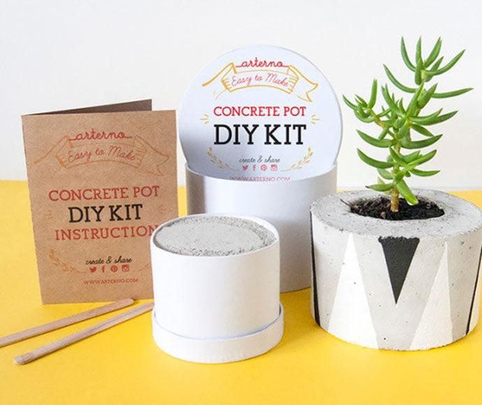 Concrete planter DIY craft kit