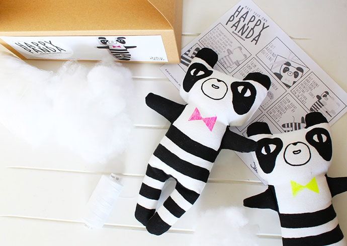DIY panda toy craft kit - christmas gift guide